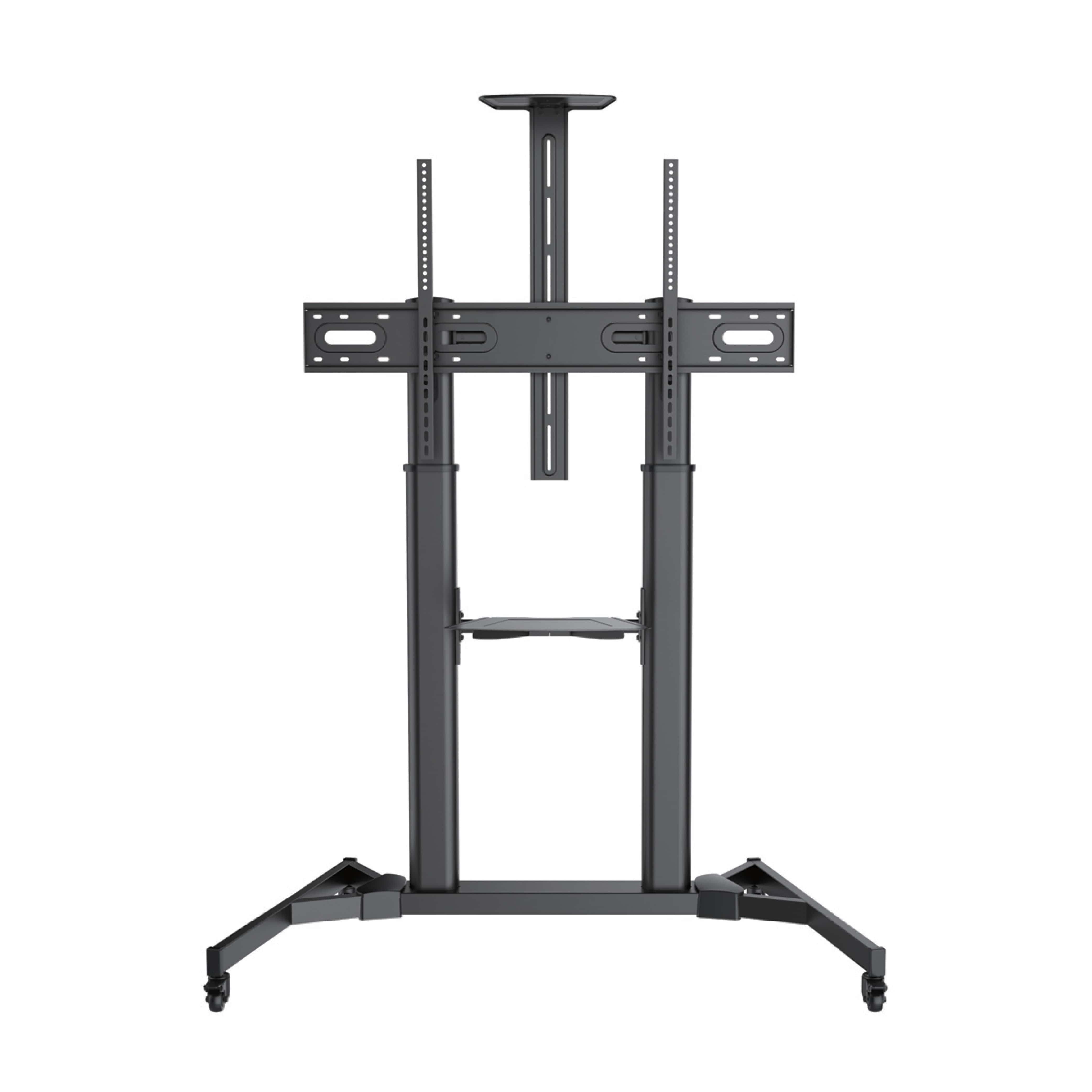 60″ to 100″ Flat Panel LED LCD TV Height Adjustable Movable TV Stand Cart TTL03-610TW | True Vision Philippines