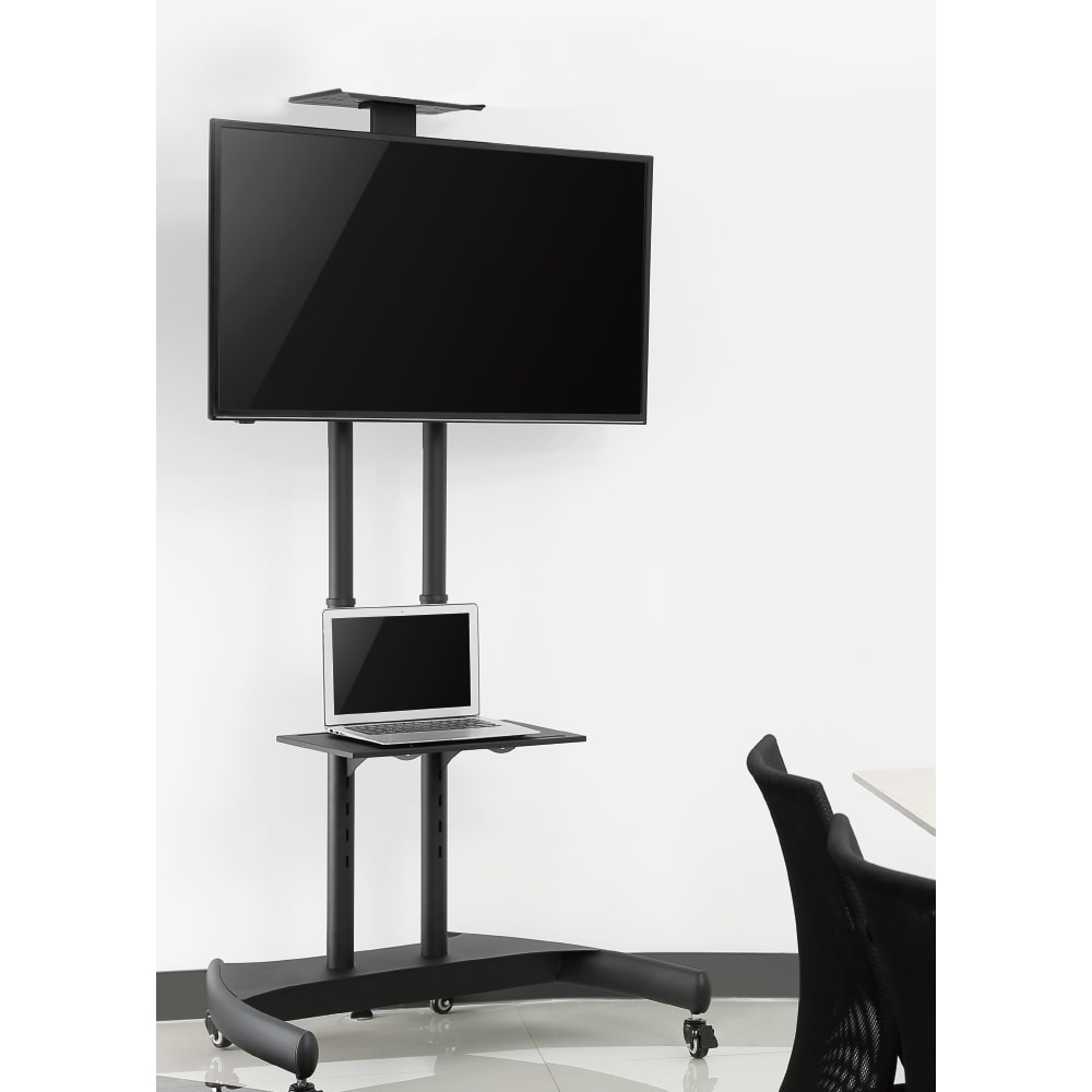 37″ to 70″ Economy Tilt Height Adjustable Movable LED LCD TV Stand Cart T1037M | True Vision Philippines