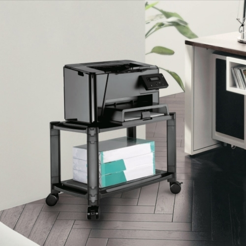 2-Tier Mobile Modular Multi-Purpose Smart Stand with Shelf AMS-4L-min