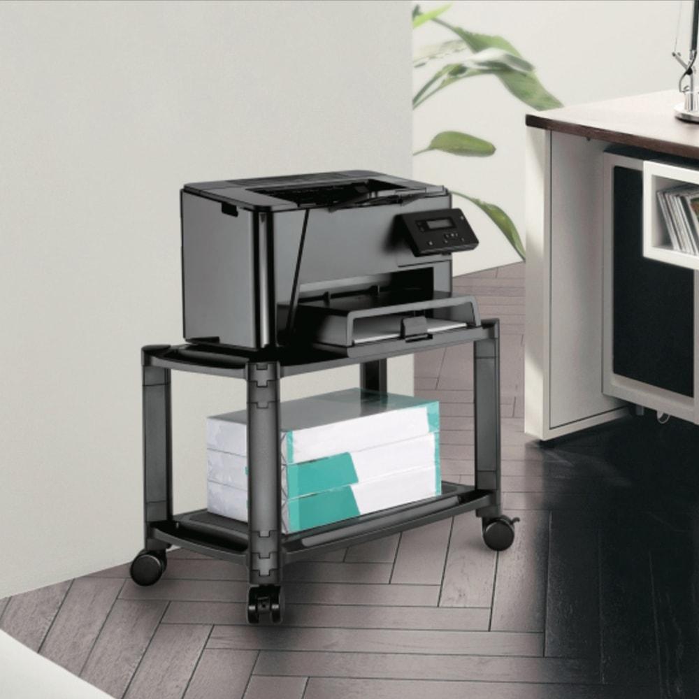 2-Tier Mobile Modular Multi-Purpose Smart Stand with Shelf AMS-4L-min